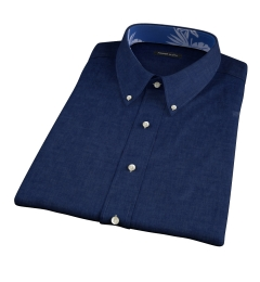 Bleecker Navy Melange Short Sleeve Shirt