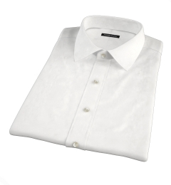 Mercer White Pinpoint Short Sleeve Shirt