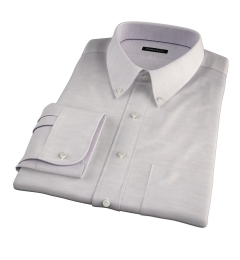 Portuguese Beige Cotton Linen Herringbone Fitted Shirt