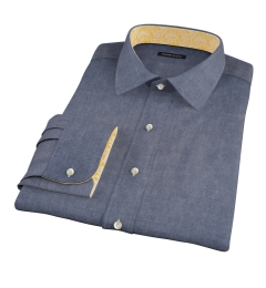 Crosby Black Denim Fitted Dress Shirt