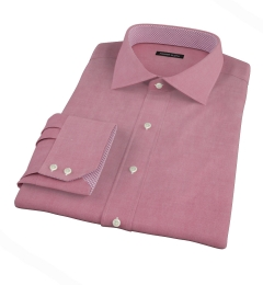 Red Heavy Oxford Cloth Custom Made Shirt