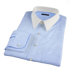Pale Blue Extra Wrinkle-Resistant Pinpoint Custom Made Shirt