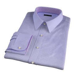 Morris Lavender Small Check Tailor Made Shirt