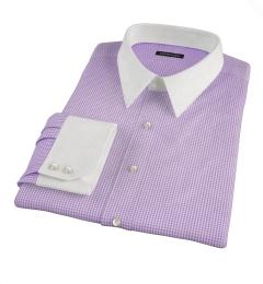 Vestry Lavender Mini Gingham Tailor Made Shirt