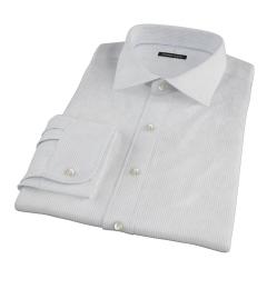 140s Light Blue Fine Stripe Fitted Dress Shirt
