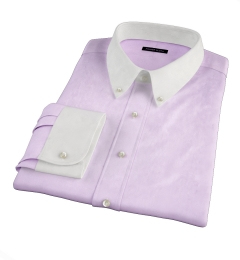 Lilac Heavy Oxford Custom Dress Shirt