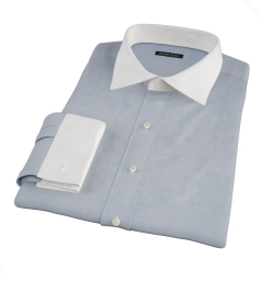 Canclini Dark Blue End on End Tailor Made Shirt