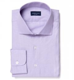Genova 100s Lilac End-on-End Dress Shirt