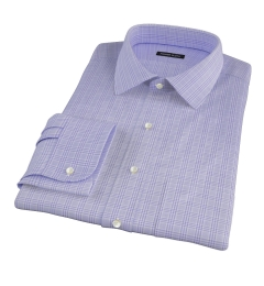 Thomas Mason Lavender Glen Plaid Custom Dress Shirt