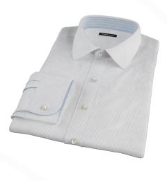 140s Light Blue Fine Stripe Men's Dress Shirt
