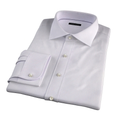 Modena Aqua and Apricot Tattersall Custom Dress Shirt