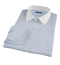 Light Blue Fine Twill Custom Dress Shirt