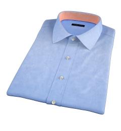 Blue 100s Twill Short Sleeve Shirt