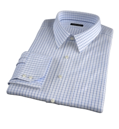 Cooper Light Blue on Blue Check Custom Made Shirt