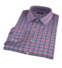 Sullivan Orange Melange Check Men's Dress Shirt