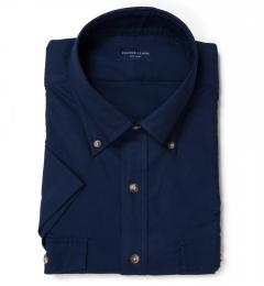 Deep Indigo Heavy Oxford Short Sleeve Shirt
