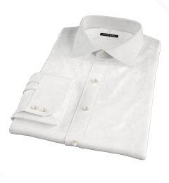 Albini White Lattice Grid Men's Dress Shirt