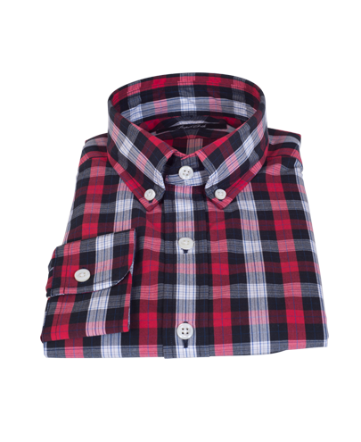 Crosby Red Plaid Custom Made Shirt