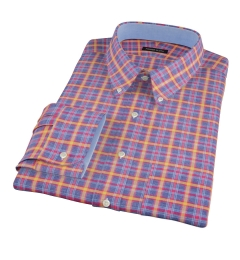 Yellow Blue Lewis Plaid Flannel Tailor Made Shirt