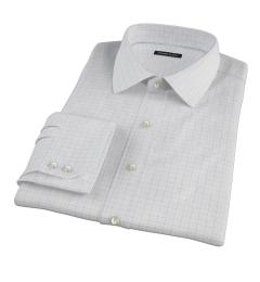 Mercer Blue Twill Check Men's Dress Shirt