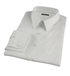 Light Blue Satin Stripe Men's Dress Shirt