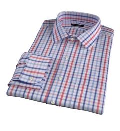 Catskill 100s Crimson Multi Check Fitted Shirt