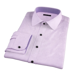 Hudson Lavender Wrinkle-Resistant Twill Tailor Made Shirt