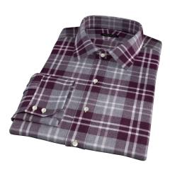 Scarlet and Cinder Large Plaid Flannel Custom Dress Shirt