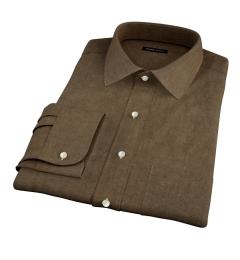 Canclini Fatigue Beacon Flannel Custom Dress Shirt