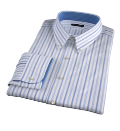 Canclini 120s Light Blue Multi Stripe Custom Made Shirt