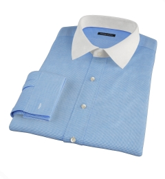 Morris Blue Wrinkle-Resistant Houndstooth Fitted Shirt