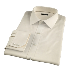 Genova 100s Yellow End-on-End Fitted Dress Shirt