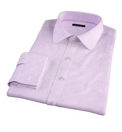 Lavender 80s Broadcloth Fitted Shirt