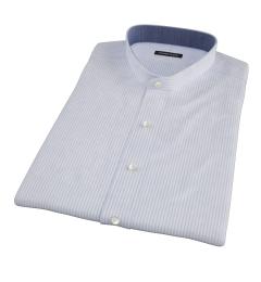 Portuguese Blue Stripe Seersucker Short Sleeve Shirt