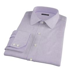 Thomas Mason Luxury Lavender Mini Grid Dress Shirt