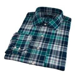 Dorado Green Plaid Fitted Dress Shirt