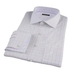 Thomas Mason Pink Multi Check Custom Dress Shirt