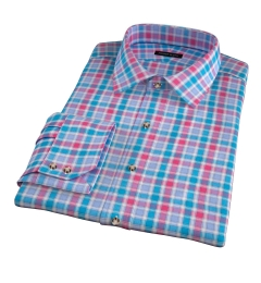 Hibiscus Large Multi Check Custom Made Shirt