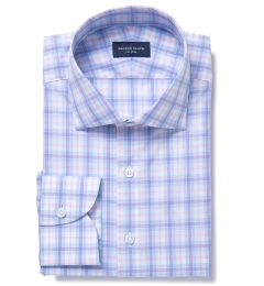 Siena Blue and Pink Multi Check Tailor Made Shirt