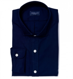 Dark Navy Heavy Oxford Men's Dress Shirt