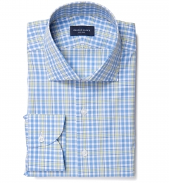 Amalfi Blue and Yellow Multi Check Tailor Made Shirt