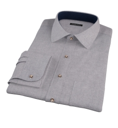 Canclini Grey Herringbone Flannel Custom Made Shirt