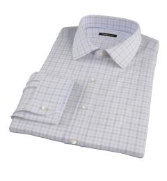 Thomas Mason Brown Multi Check Custom Made Shirt