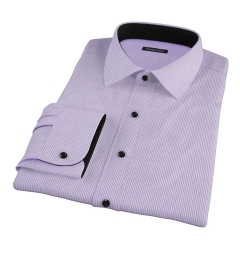 Carmine Lavender Stipe Dress Shirt