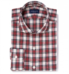 Japanese Red Donegal Tartan Custom Dress Shirt