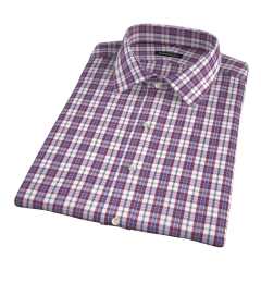 Siena Red and Green Multi Check Short Sleeve Shirt