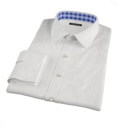 White Basketweave Tailor Made Shirt