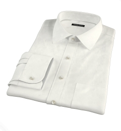 Greenwich Ivory Broadcloth Fitted Shirt