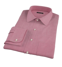 Red Heavy Oxford Custom Made Shirt