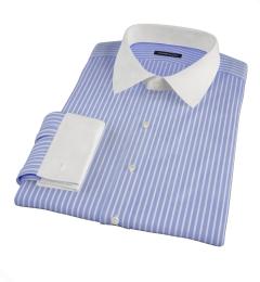 Canclini Blue Reverse Bengal Stripe Men's Dress Shirt